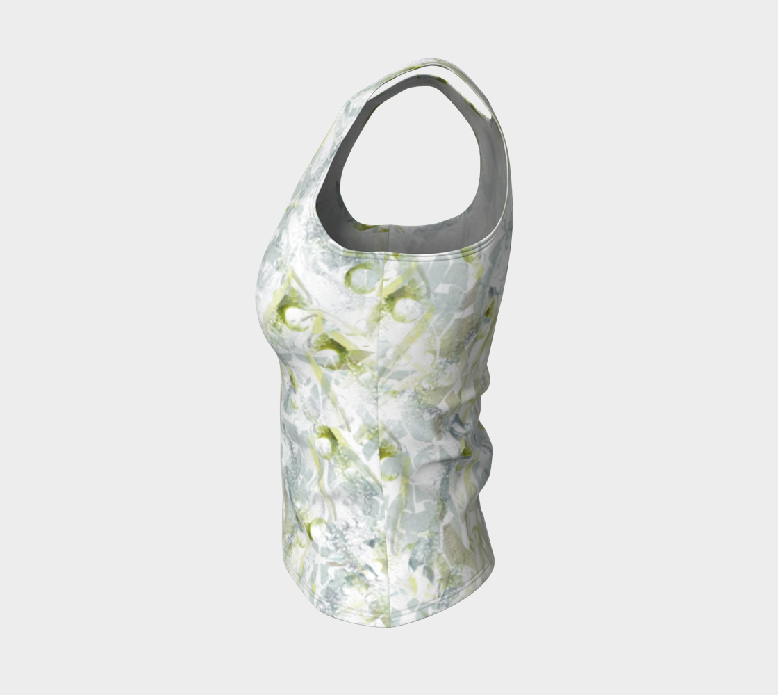 Spring Equinox Fitted Tank Top by Laura Davis Art Studio preview #3
