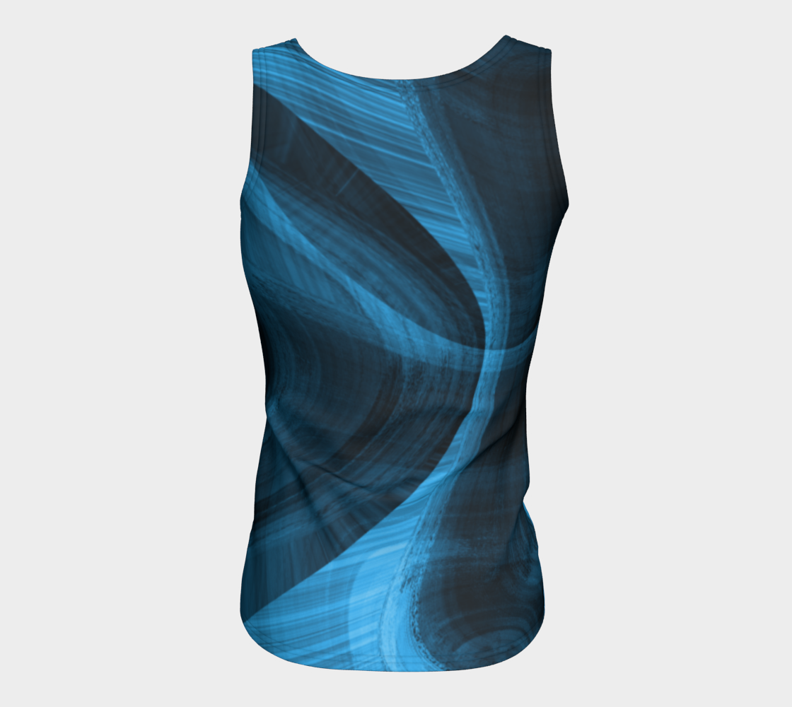 Bluish Black Hole Fitted Tank Top preview #6