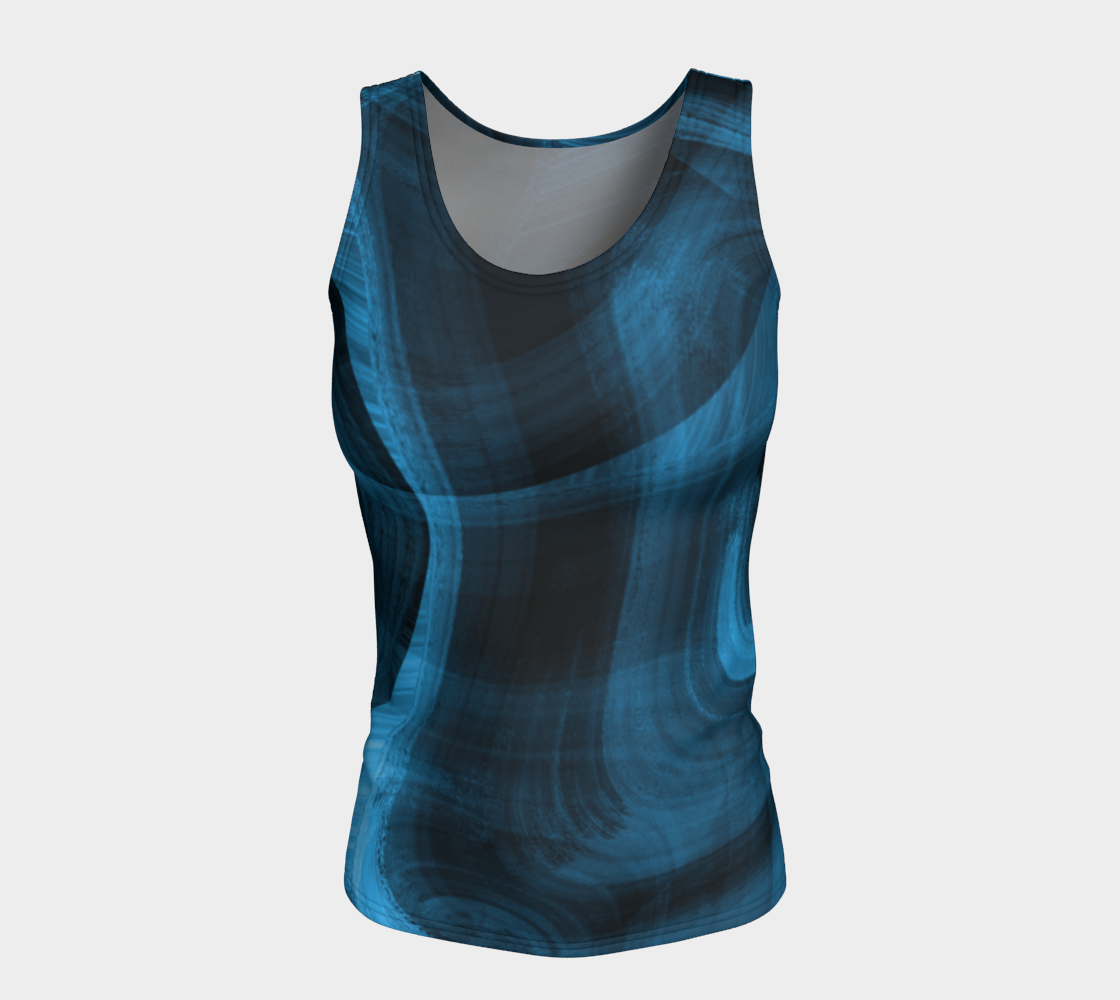Bluish Black Hole Fitted Tank Top preview #5