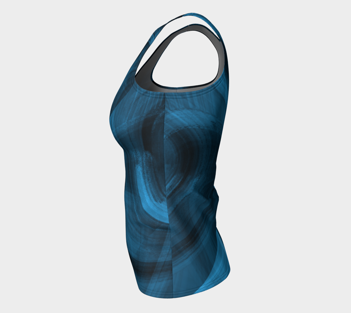 Bluish Black Hole Fitted Tank Top preview #7