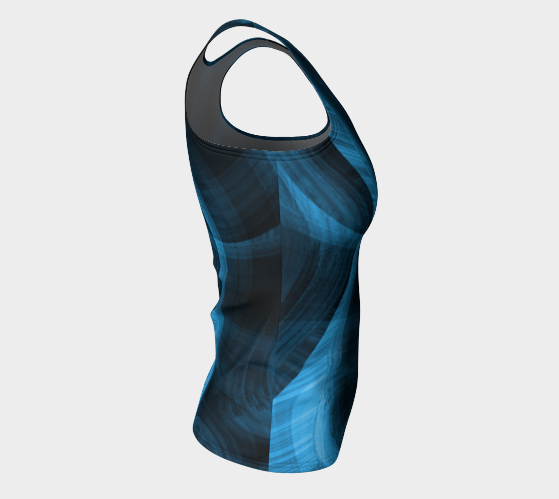 Bluish Black Hole Fitted Tank Top preview #8