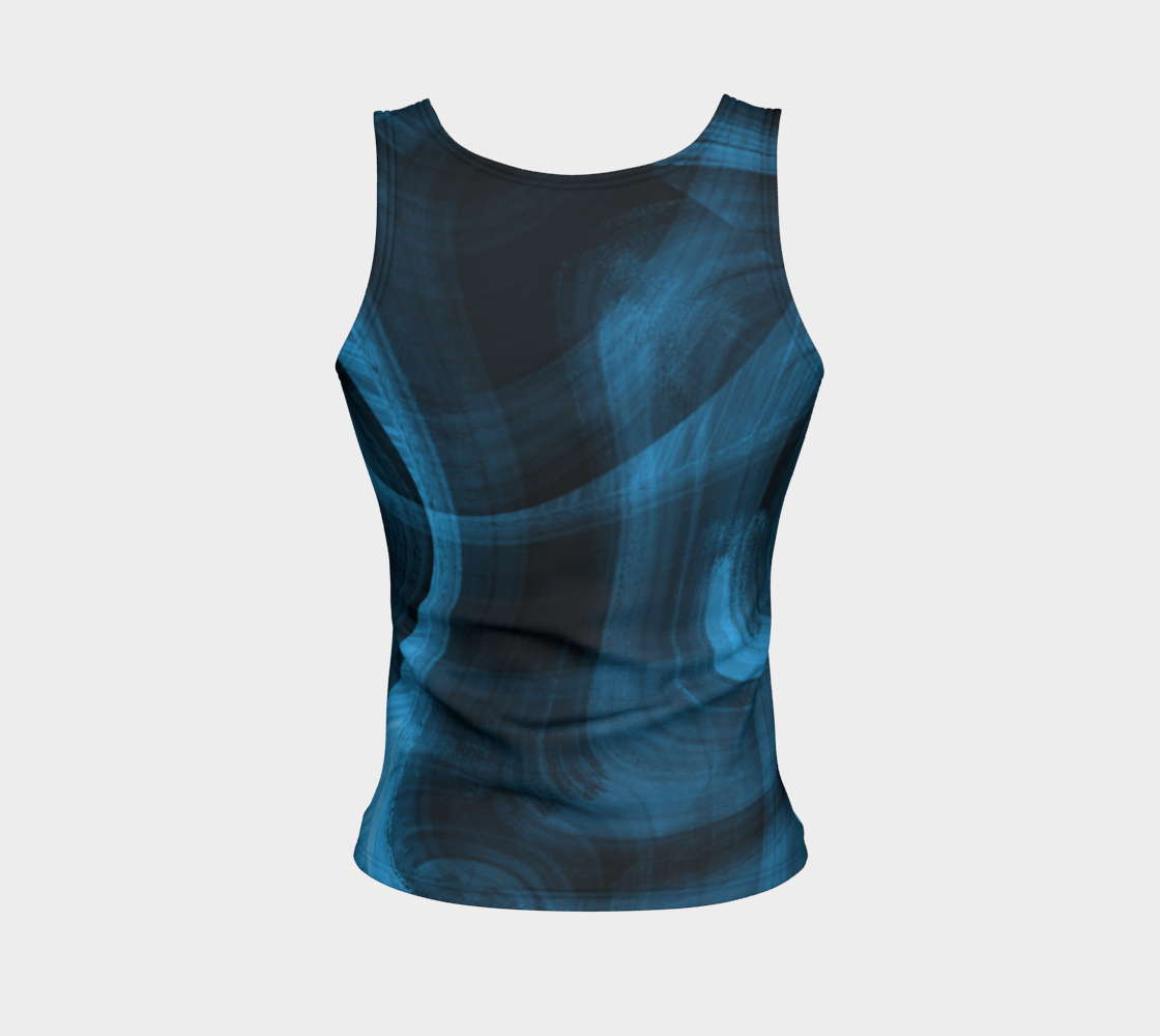 Bluish Black Hole Fitted Tank Top preview #2