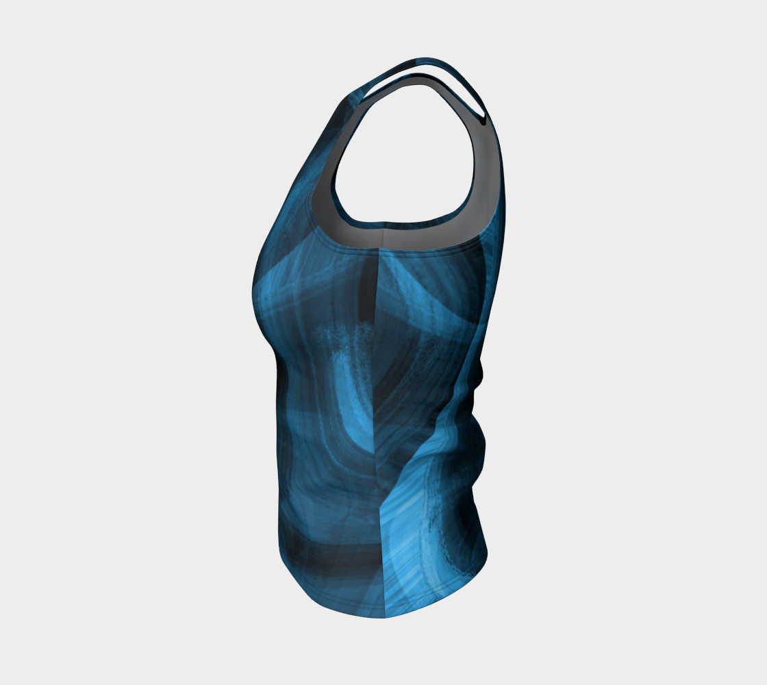 Bluish Black Hole Fitted Tank Top preview #3