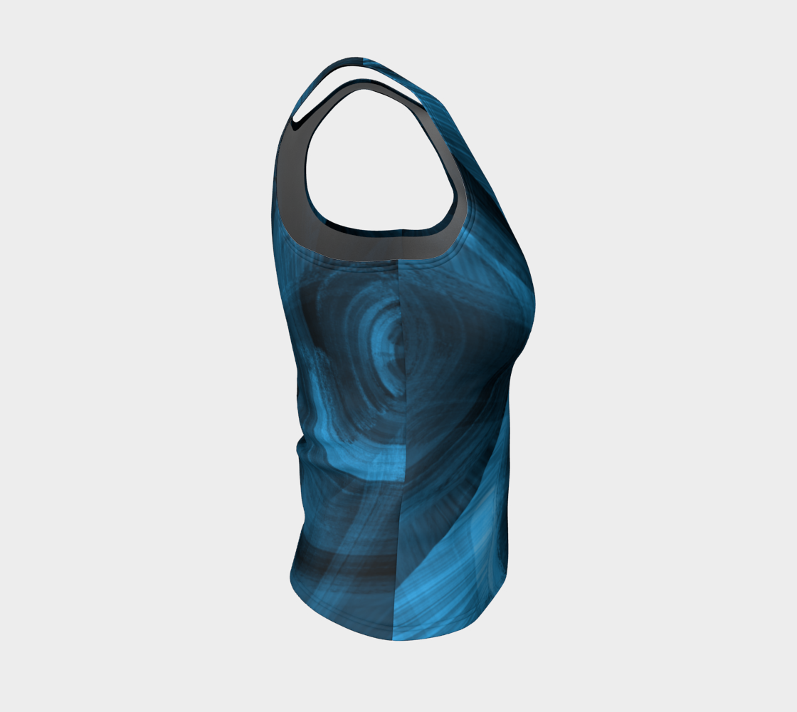 Bluish Black Hole Fitted Tank Top preview #4