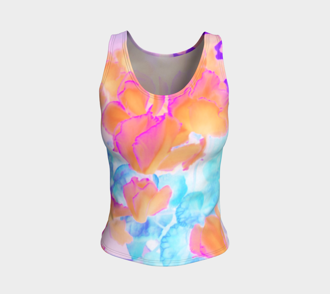 Ciclamen Flowers Garden Fitted Tank Top preview