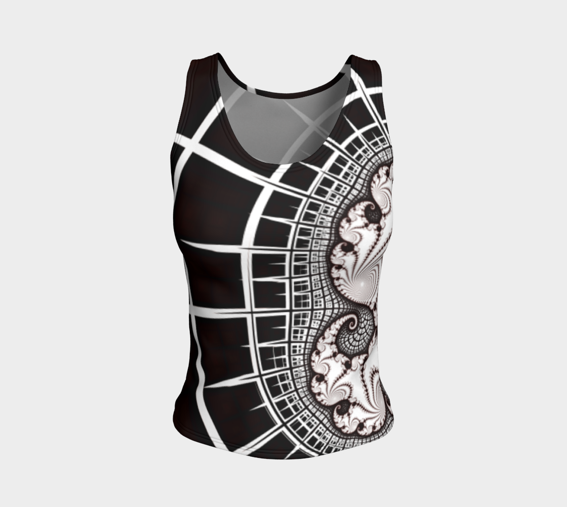 Map to Infinity Fitted Tank Top preview