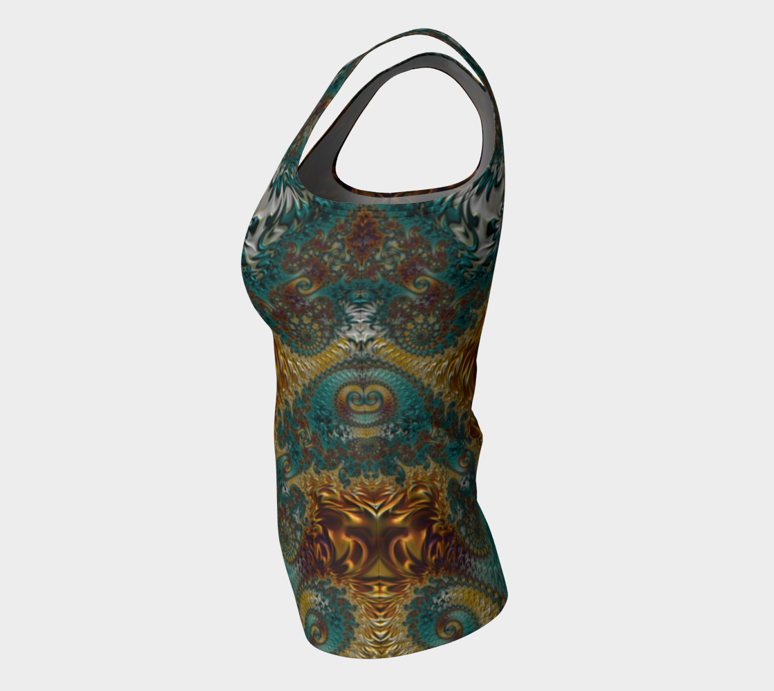 Marigold Garden Fitted Tank Top preview #7