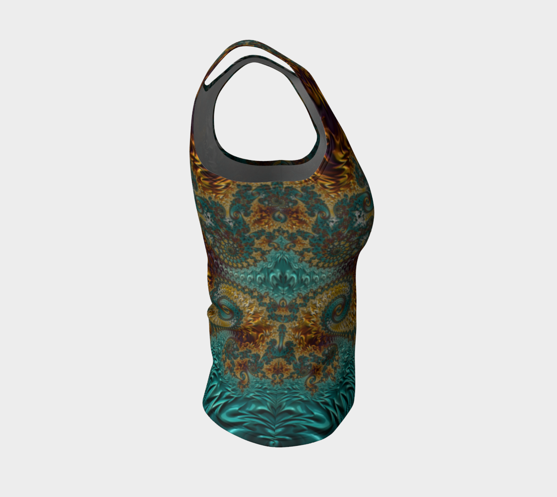 Marigold Garden Fitted Tank Top preview #4