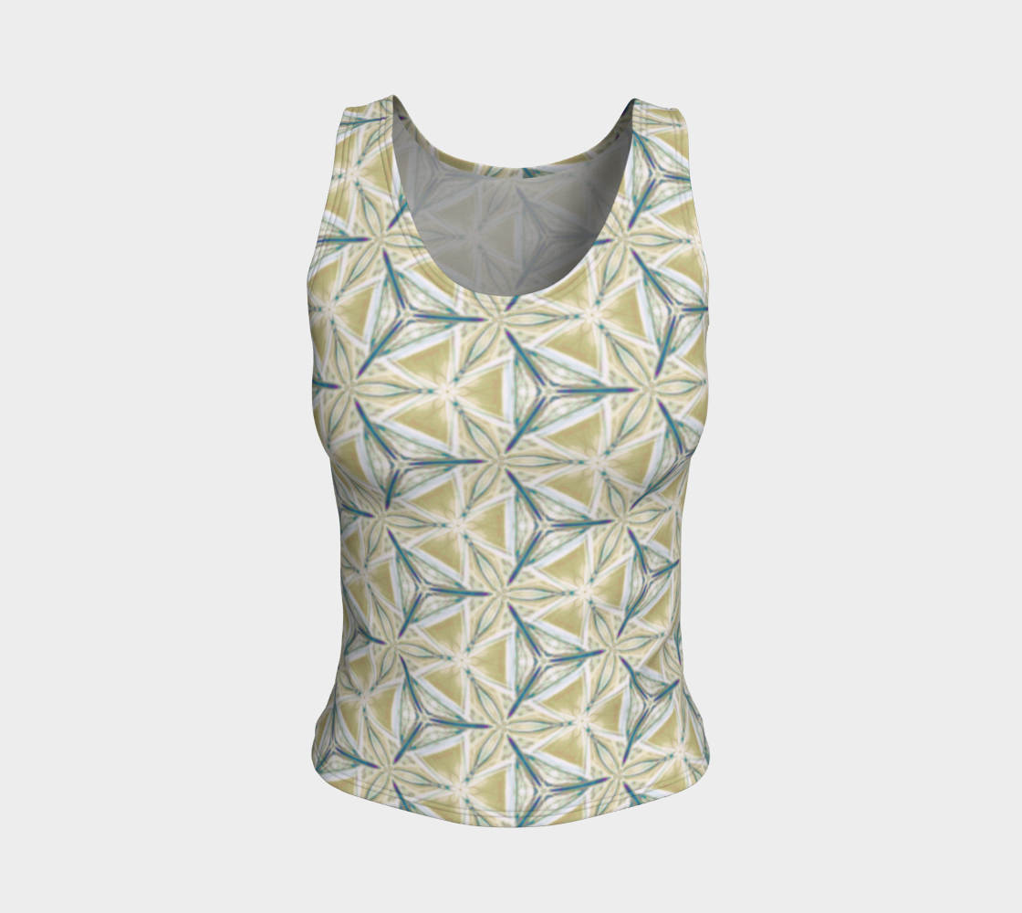 Avocado Pattern Fitted Tank Top preview #1