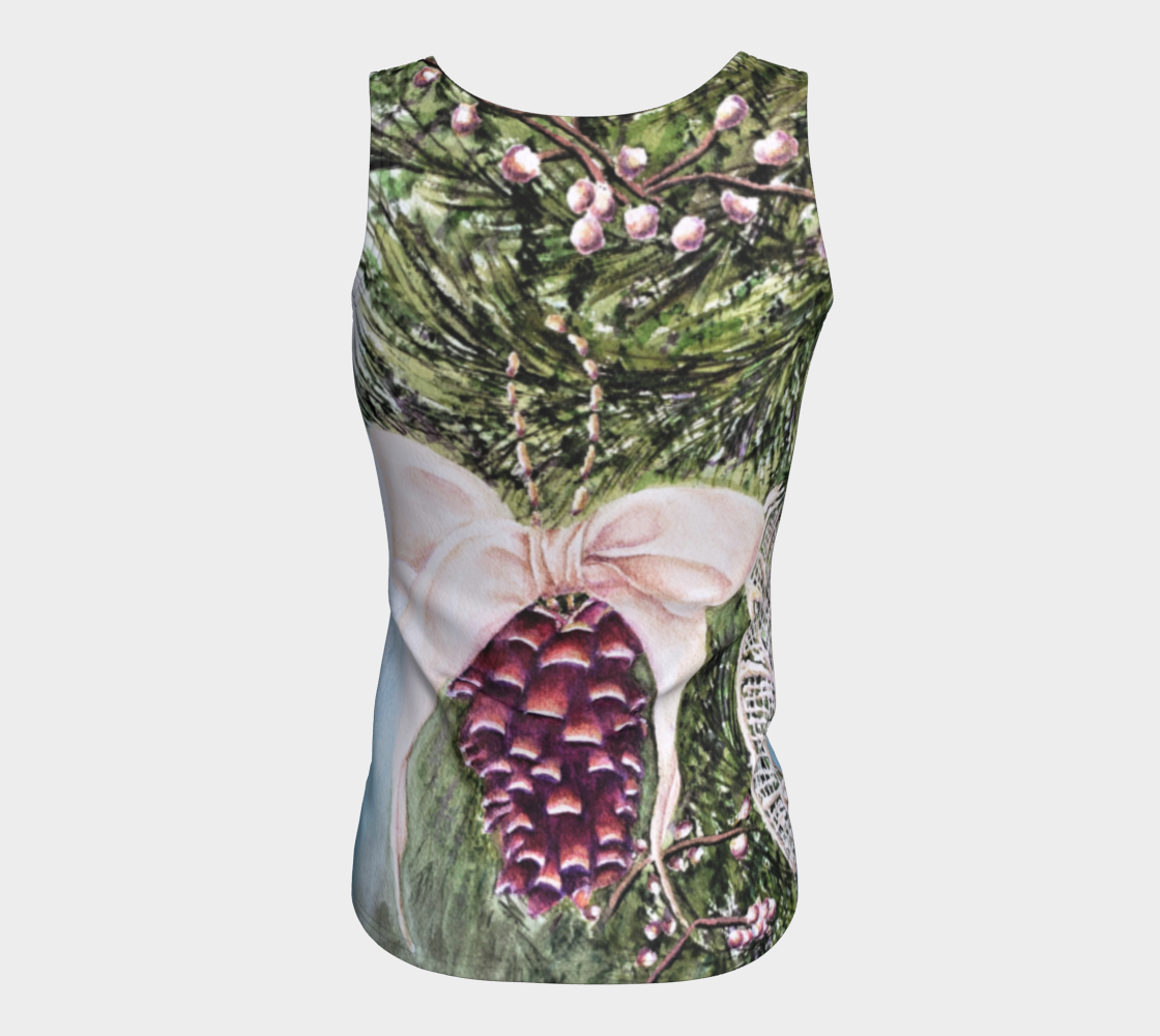 Pine Cone Fitted Tank Top preview #6
