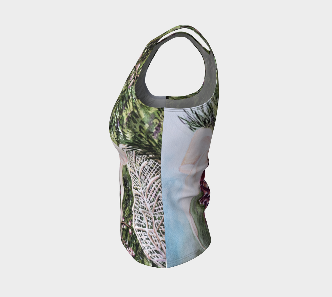 Pine Cone Fitted Tank Top preview #3