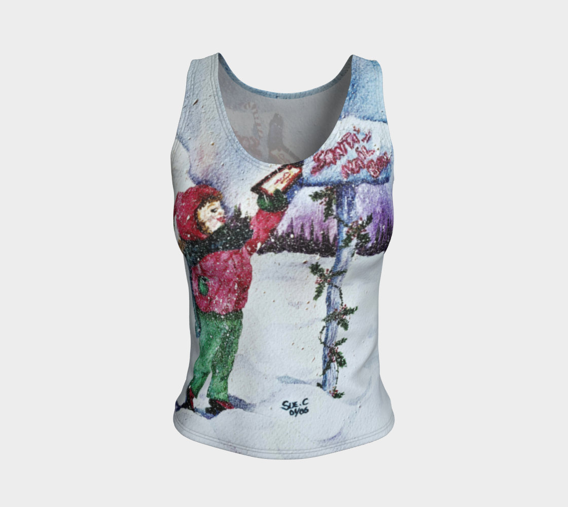 Dear Santa Fitted Tank Top preview