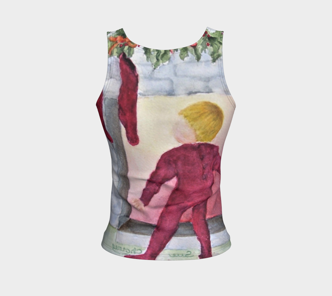 Christmas Eve Fitted Tank Top preview #2
