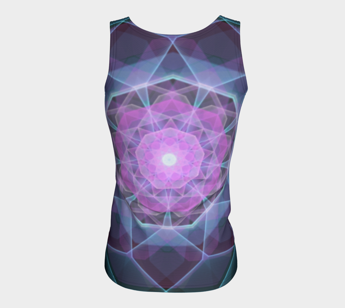 Gemstone Mandala Fitted Tank Top  preview #6