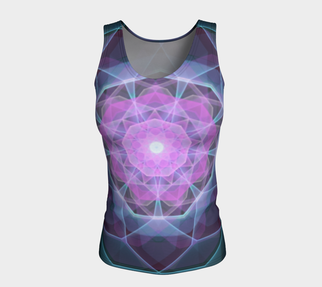 Gemstone Mandala Fitted Tank Top  preview #5