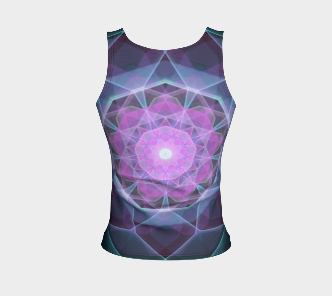 Gemstone Mandala Fitted Tank Top  preview #2