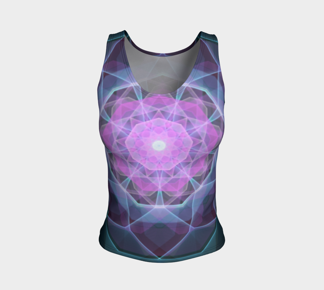 Gemstone Mandala Fitted Tank Top  preview