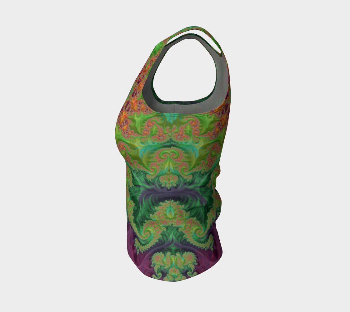 Edible Flower Fitted Tank Top preview #3