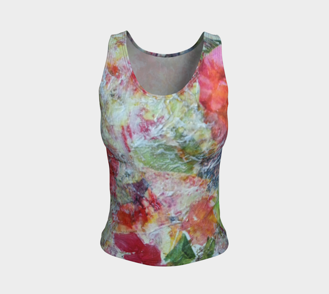 Floral Burst Fitted Tank Top preview