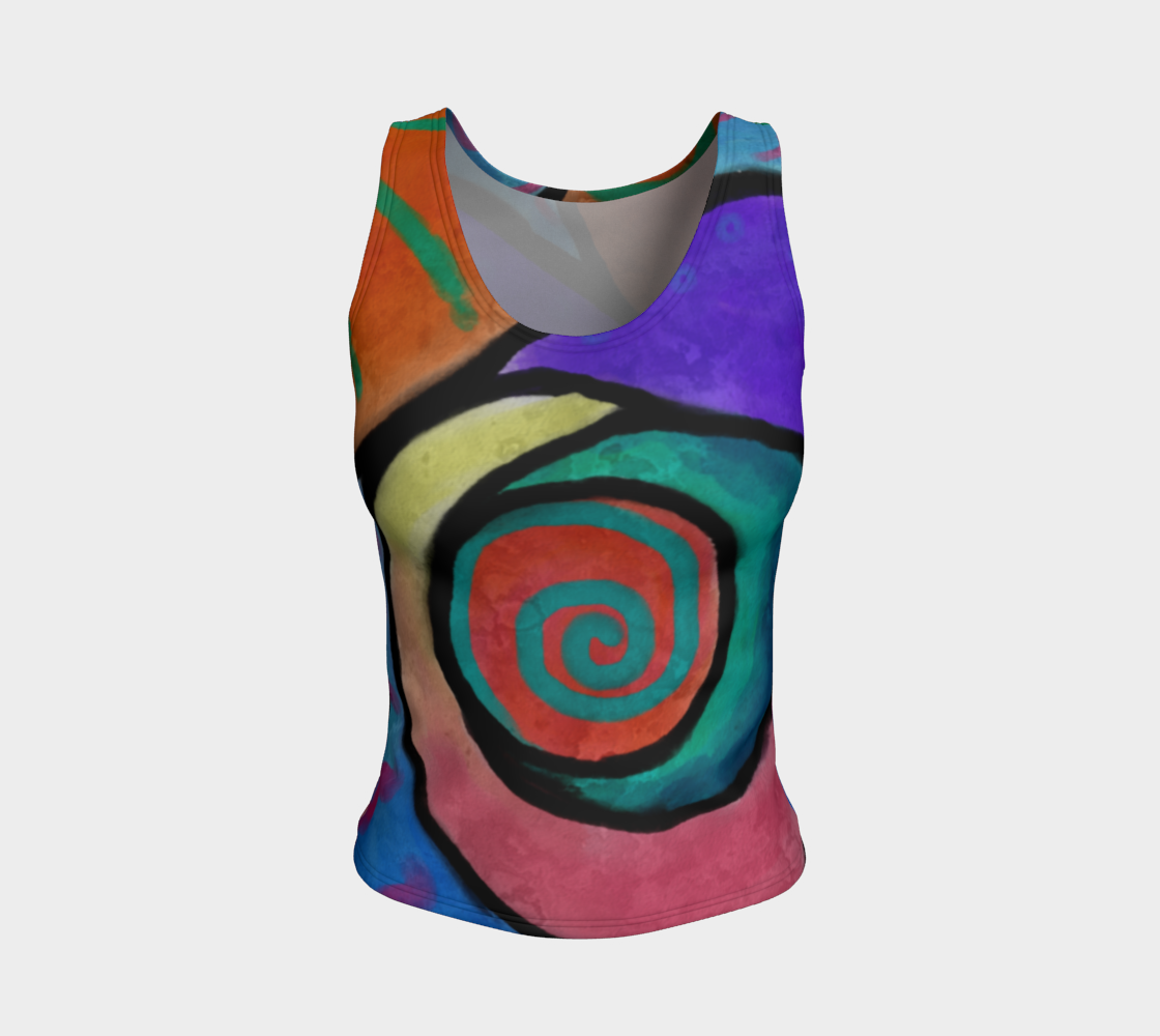 Aperçu de Colorful Abstract Art All Over Print Tank Top