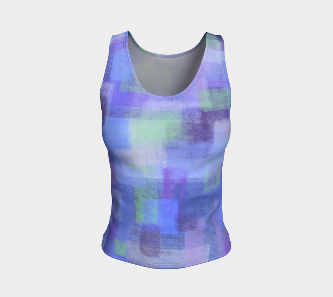 Purple Blocks Fitted Tank Top  preview