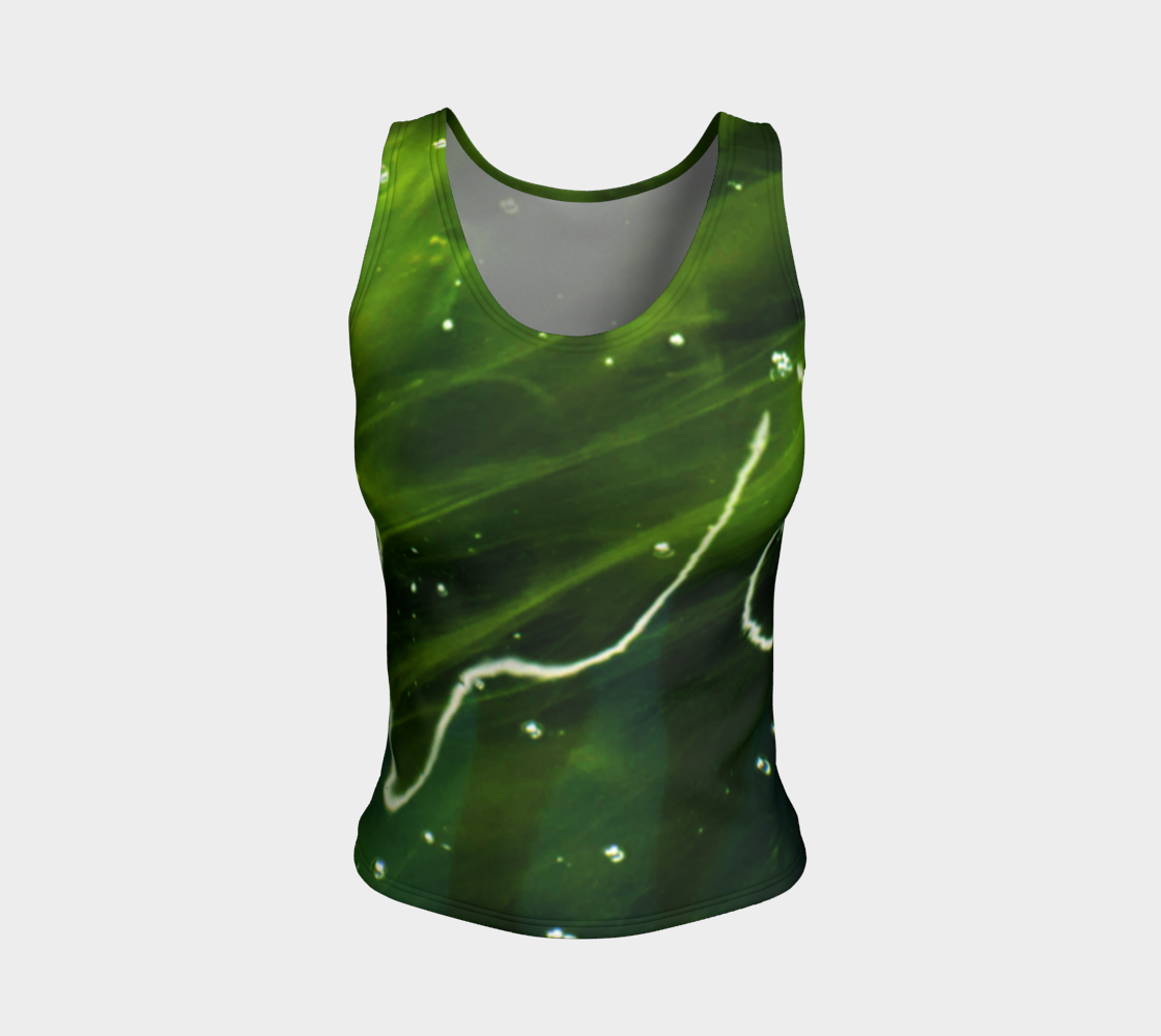 Green Algae and Water Fitted Tank Top preview