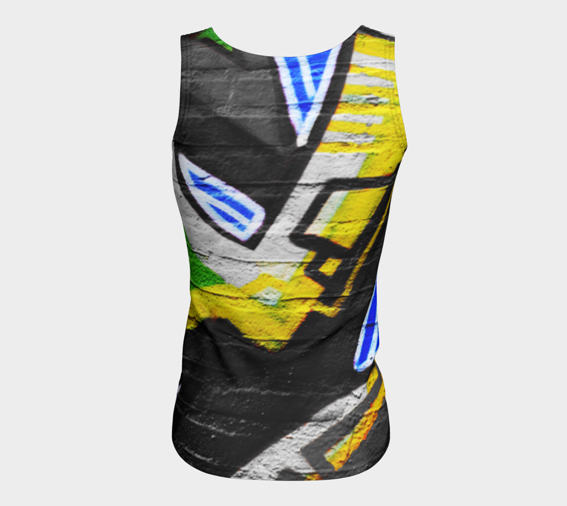 Graffiti 6 Fitted Tank Top preview #6