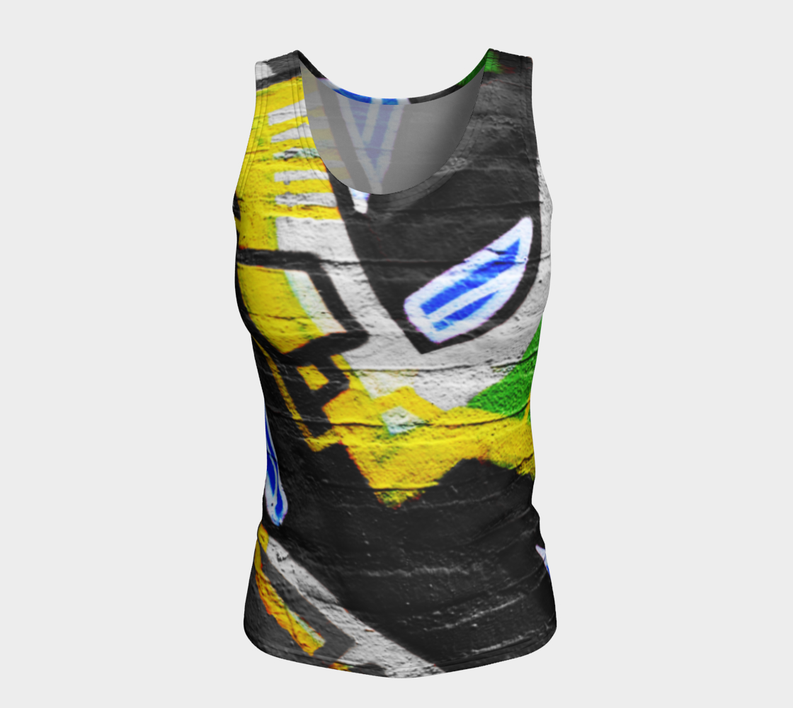 Graffiti 6 Fitted Tank Top preview #5