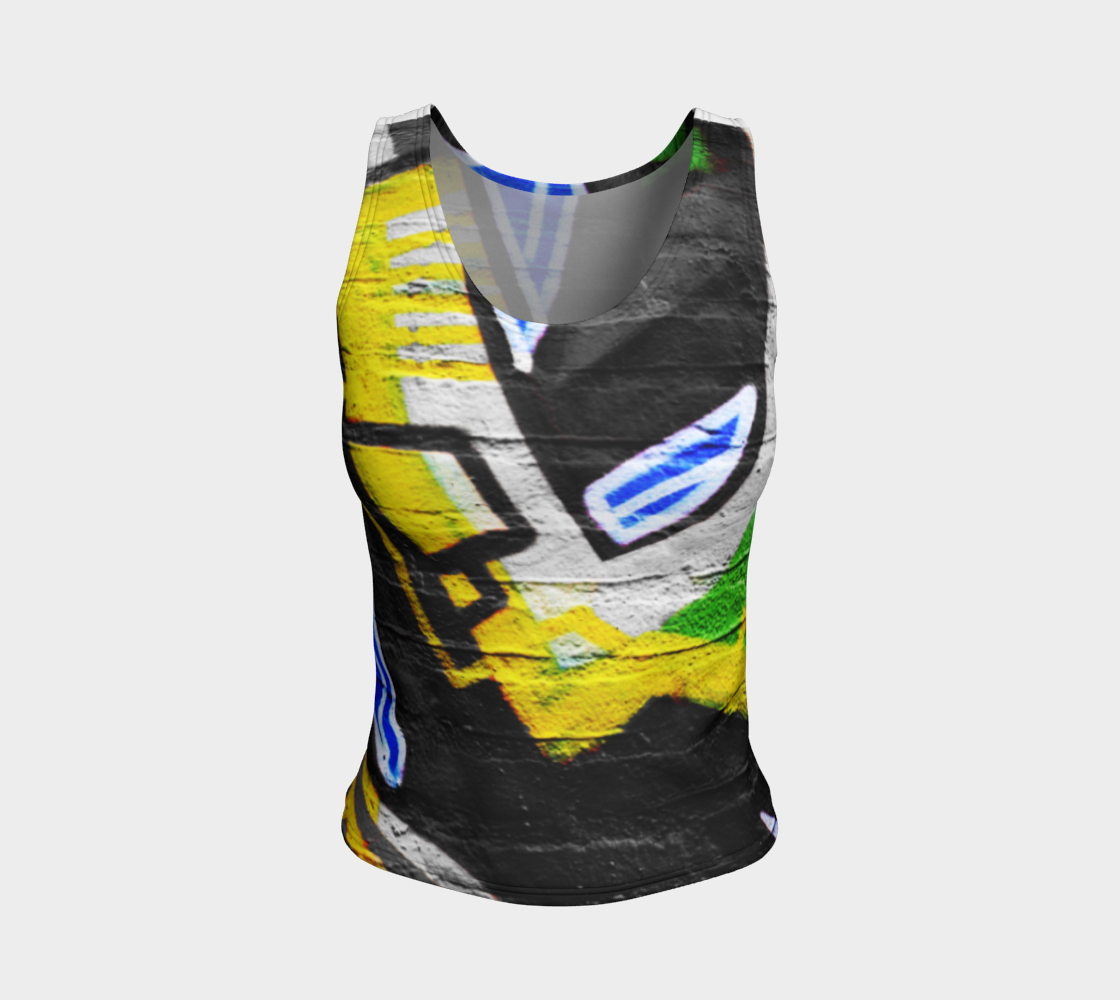 Graffiti 6 Fitted Tank Top preview