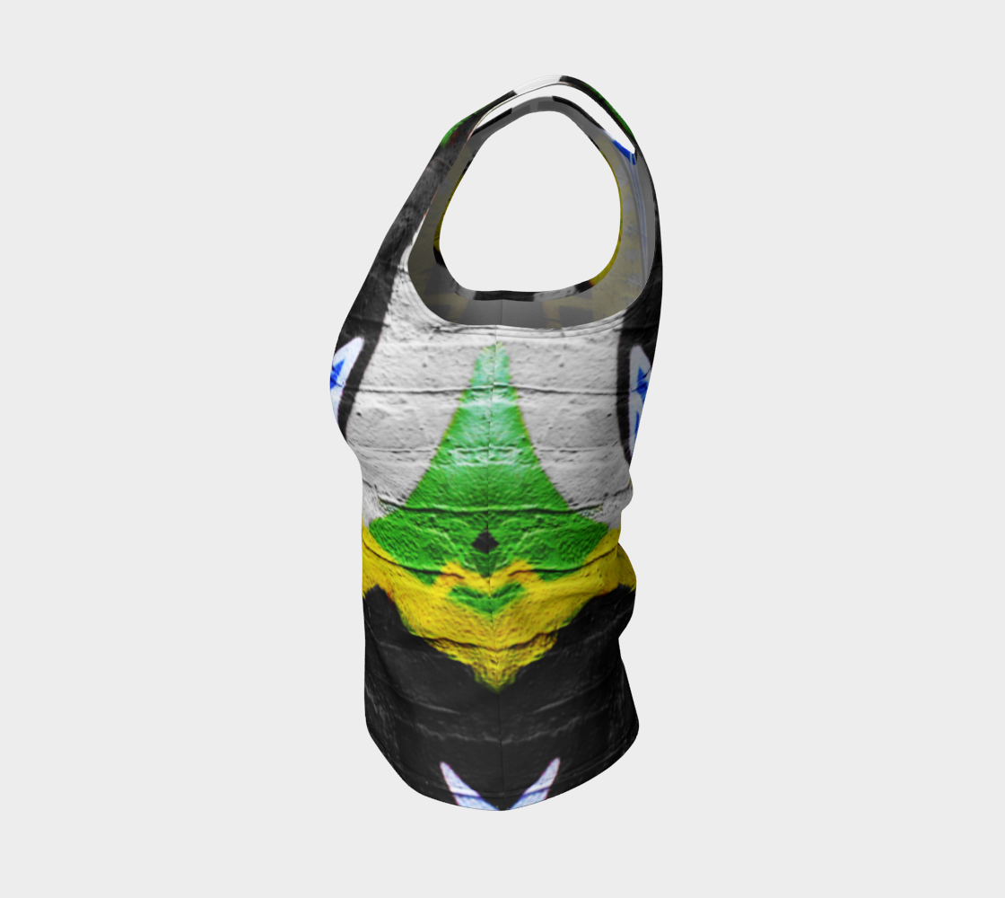 Graffiti 6 Fitted Tank Top preview #3