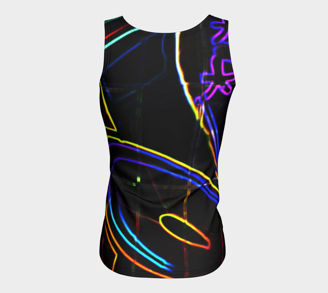 Graffiti 10 Fitted Tank Top preview #6