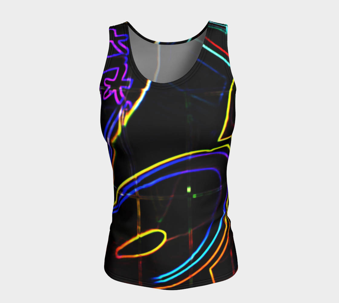 Graffiti 10 Fitted Tank Top preview #5