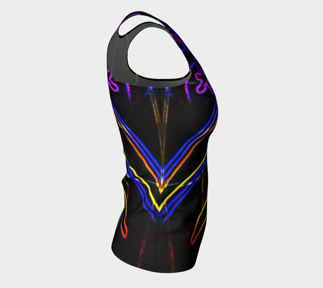 Graffiti 10 Fitted Tank Top preview #8