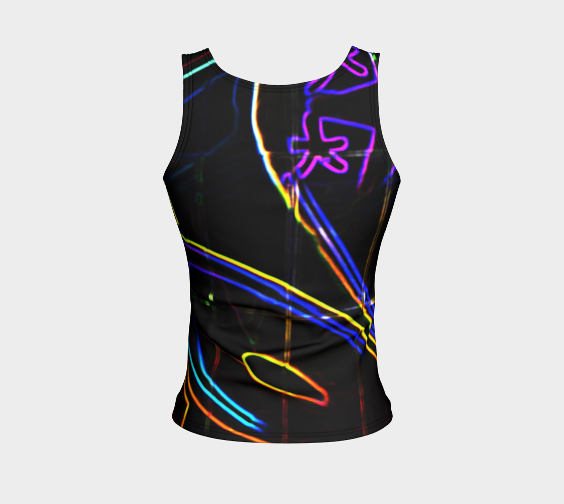 Graffiti 10 Fitted Tank Top preview #2