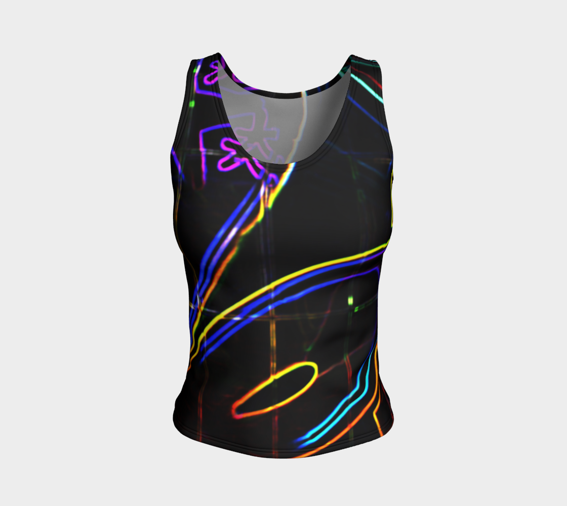 Graffiti 10 Fitted Tank Top preview #1