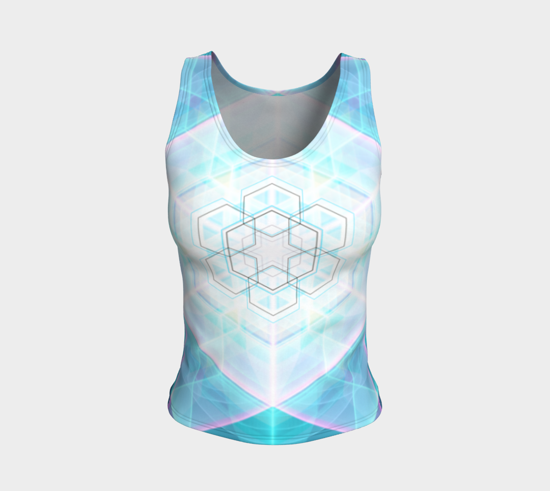 Solid Crystal Fitted Tank Top preview