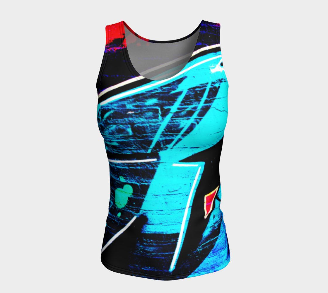 Graffiti 14 Fitted Tank Top preview #5