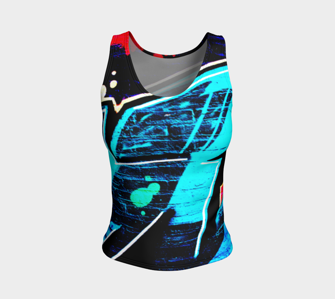 Graffiti 14 Fitted Tank Top preview #1