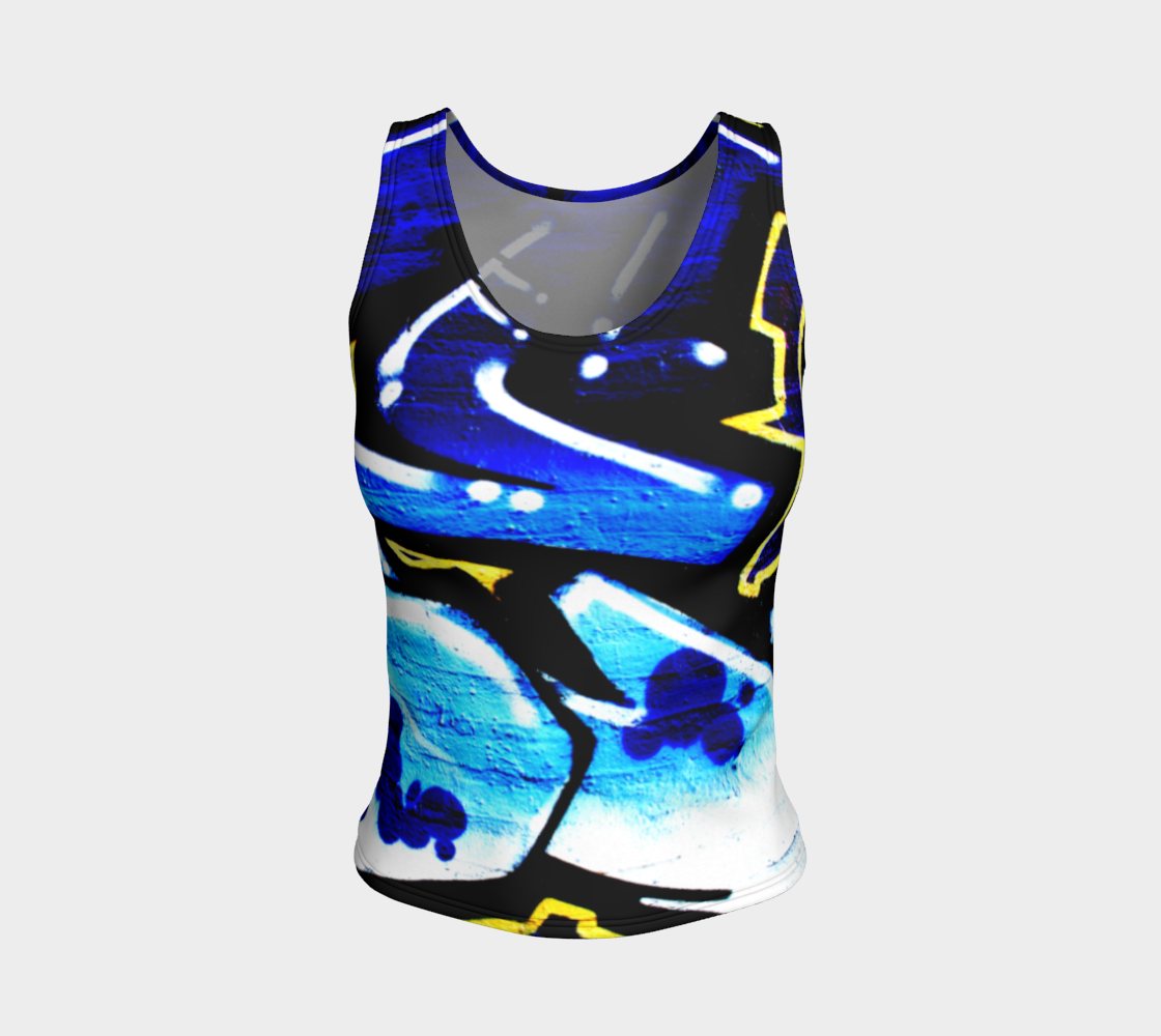 Graffiti 15 Fitted Tank Top preview