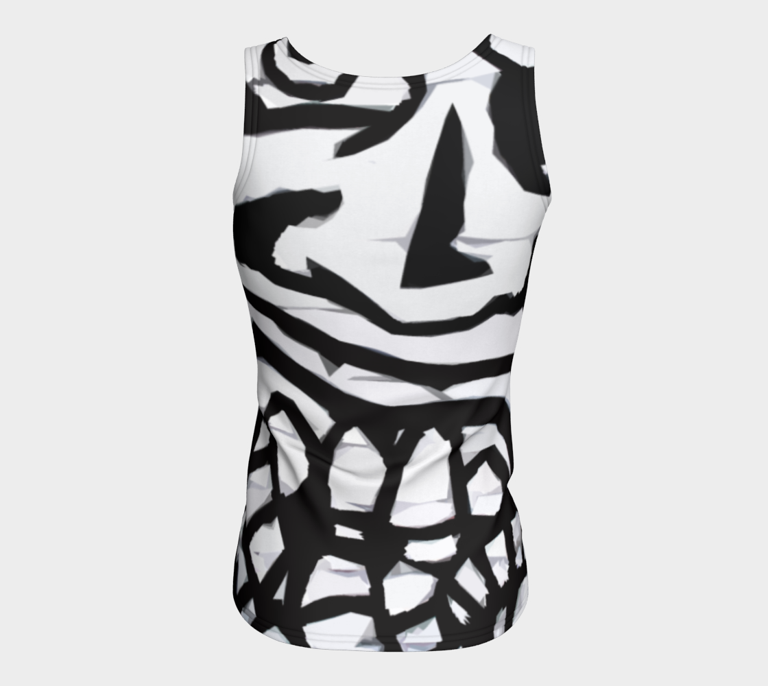 Graffiti 16 Fitted Tank Top preview #6