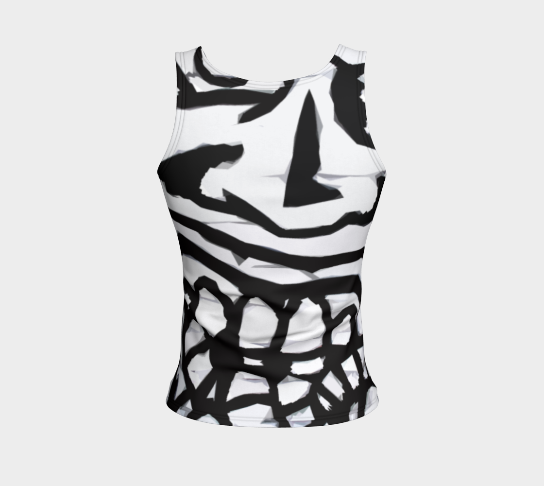 Graffiti 16 Fitted Tank Top preview #2