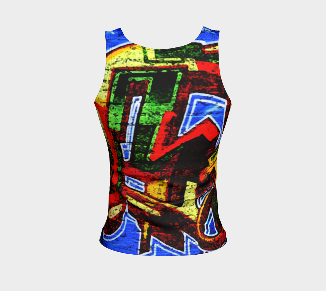 Graffiti 17 Fitted Tank Top preview #2