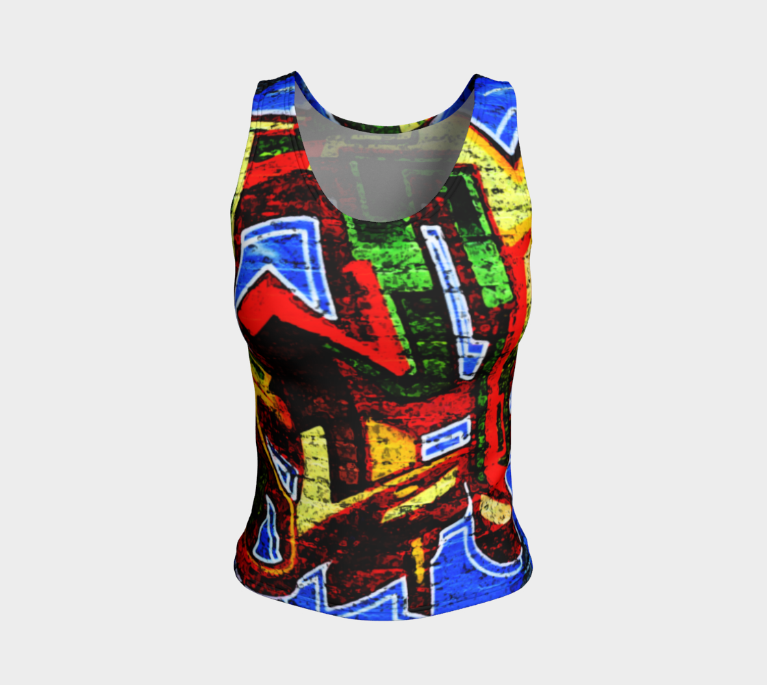 Graffiti 17 Fitted Tank Top preview