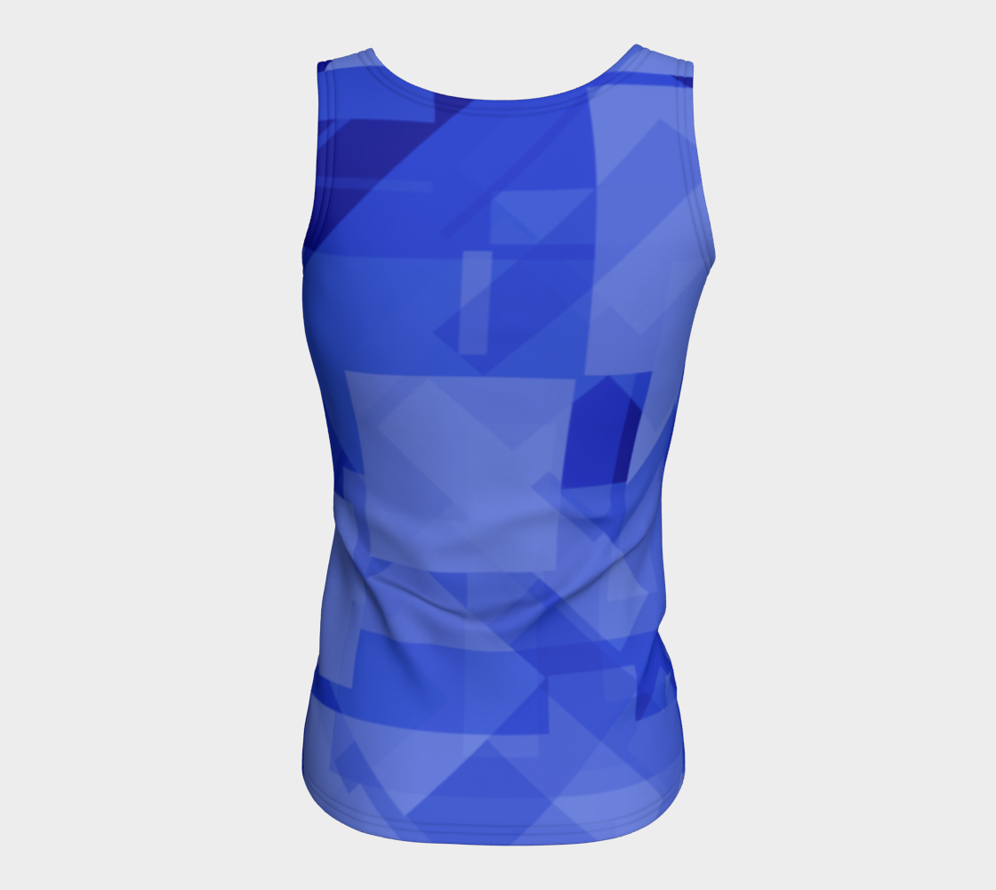 Blue is Better Fitted Tank Top preview #6