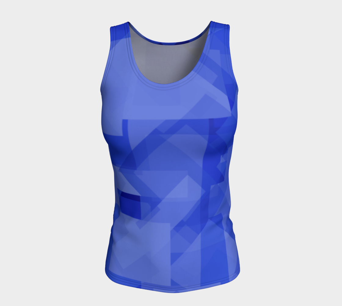 Blue is Better Fitted Tank Top preview #5