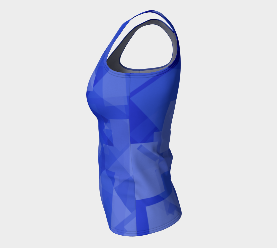 Blue is Better Fitted Tank Top preview #7
