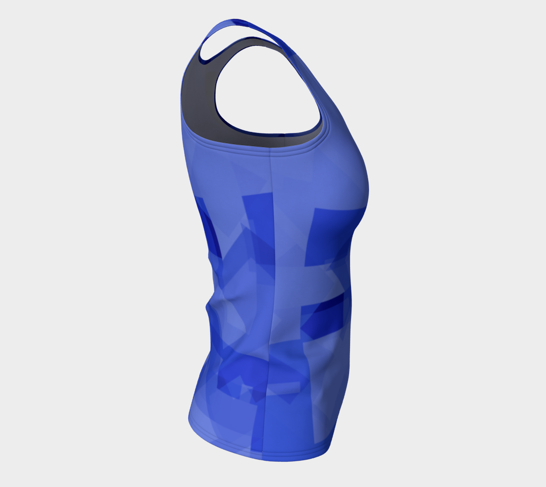 Blue is Better Fitted Tank Top preview #8