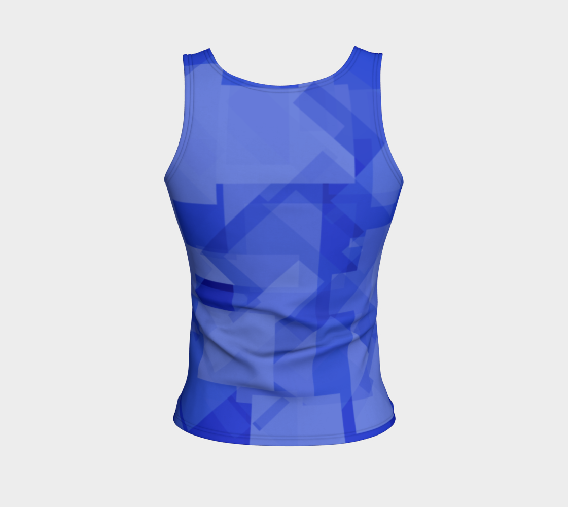 Blue is Better Fitted Tank Top preview #2