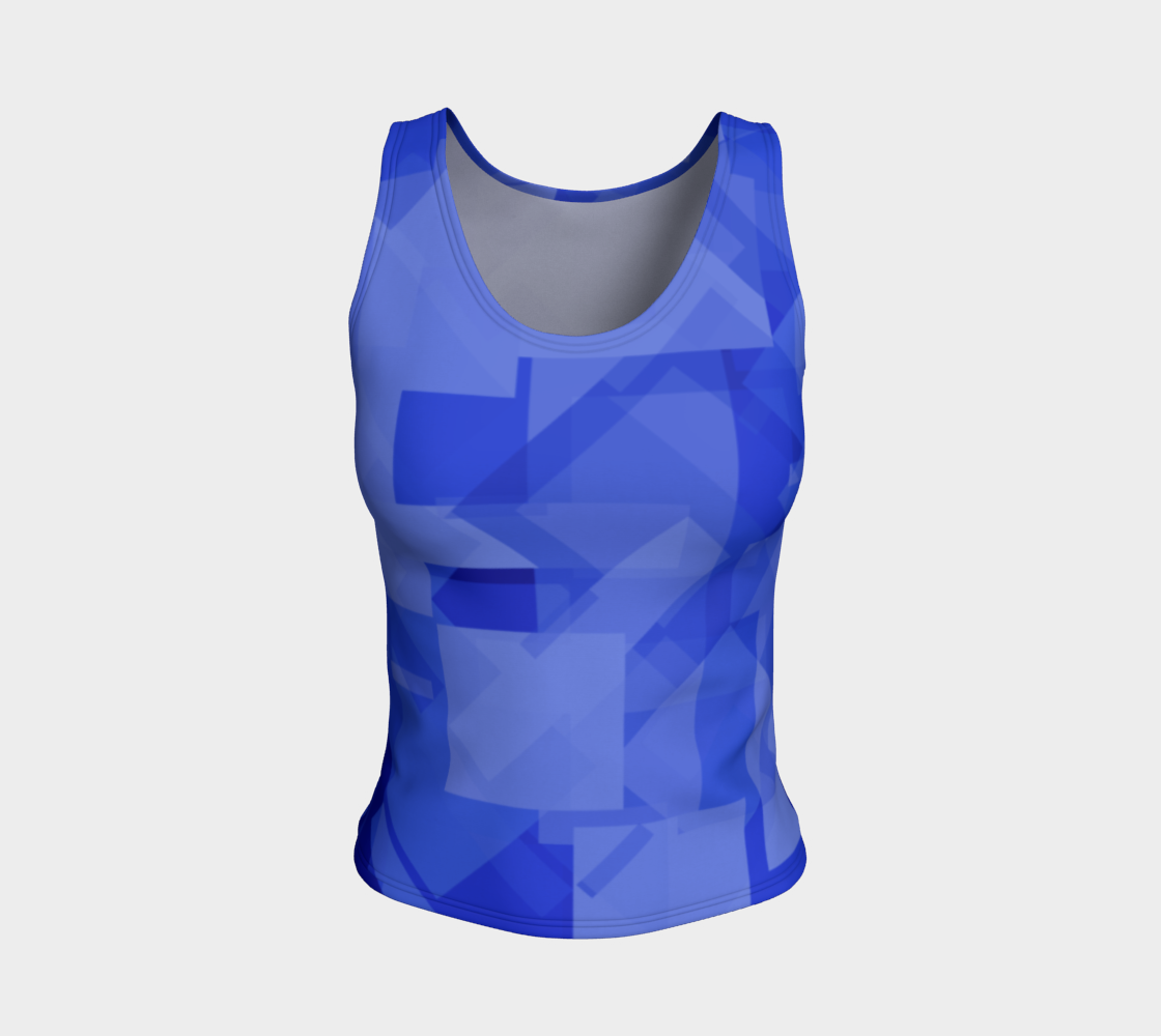 Blue is Better Fitted Tank Top preview