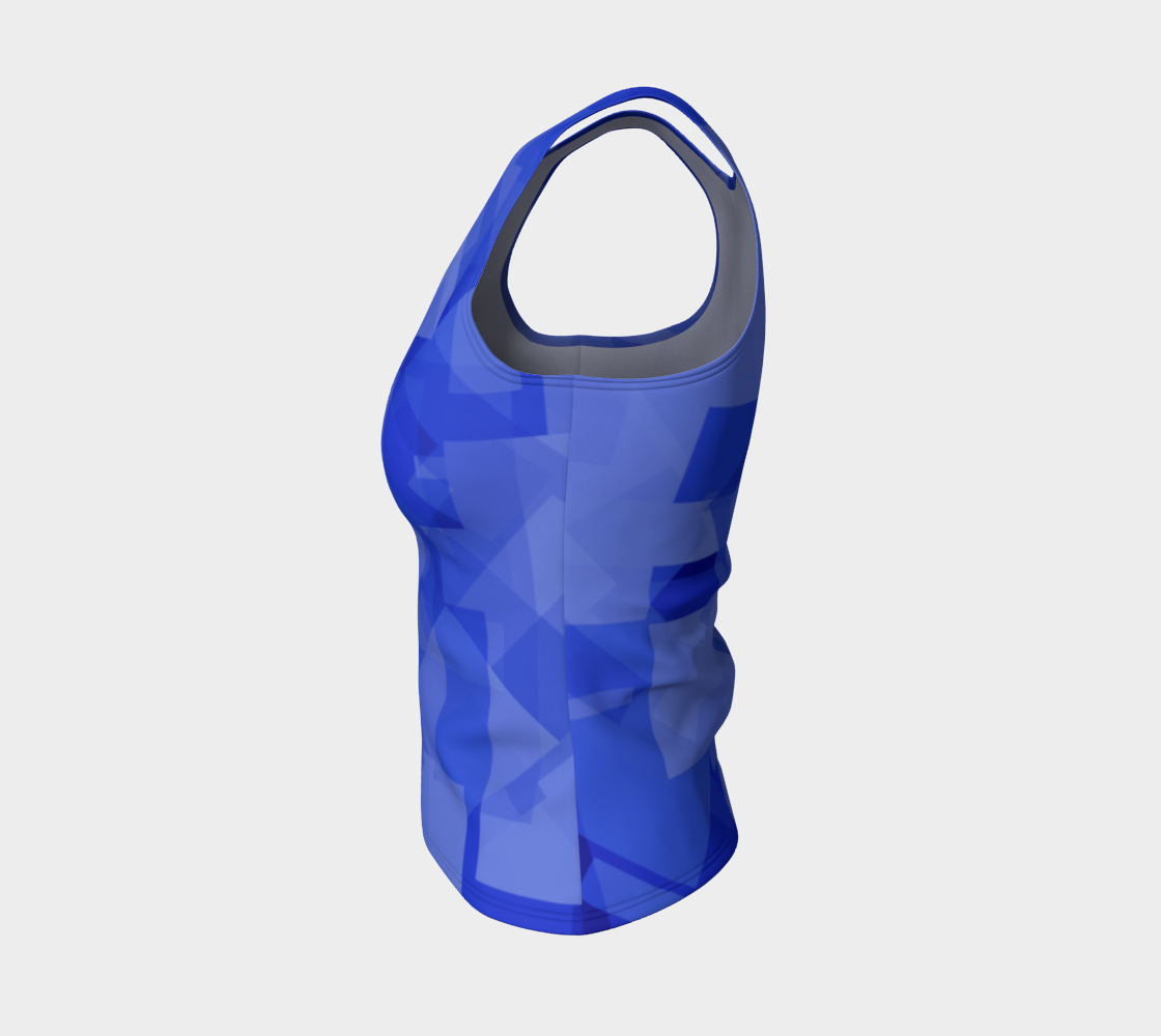 Blue is Better Fitted Tank Top preview #3